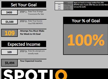 sales goal template